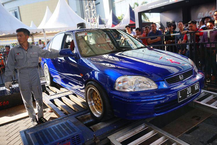 Honda Ferio jawara Dyno test NA di BlackAuto Battle Surabaya