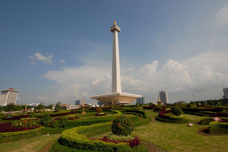 Monumen Nasional (Monas) di Jakarta, Ibu Kota Indonesia.