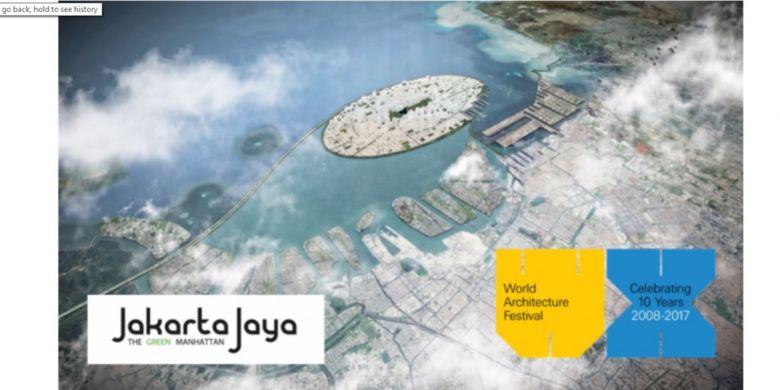 Masterplan Jakarta Jaya: The Green Manhattan karya SHAU Architects yang memenangkan WAFX Prize 2017.