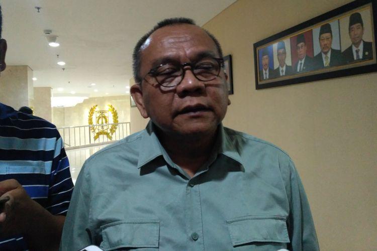 Wakil Ketua DPRD DKI Jakarta Mohamad Taufik di Gedung DPRD DKI Jakarta, Jumat (7/7/2017).