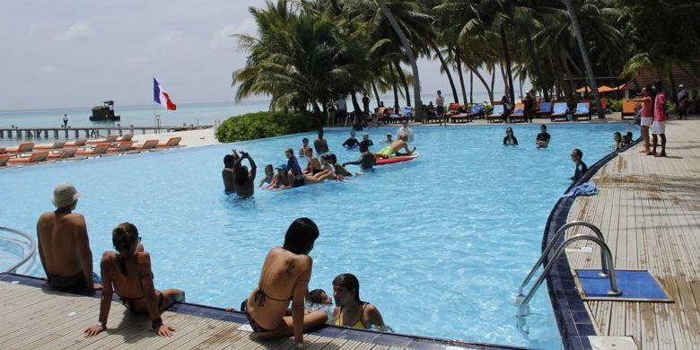 Club Med Kani di Maladewa, Minggu (16/7/2017.