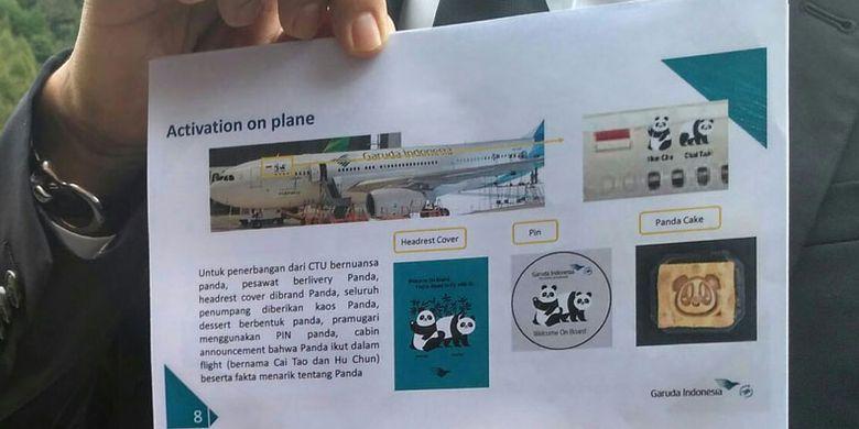 Pesawat Airbus 330-200 yang akan mengangkut panda raksasa dari China. Kedua panda itu akan diterbangkan Kamis pagi (28/8/2017) dari Chengdu ke Jakarta.