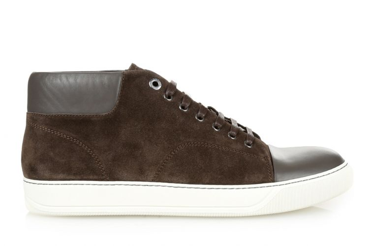 Lanvin Classic Leather & Suede High-Top
