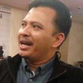 Direktur Eksekutif Poltracking, Hanta Yudha saat di kawasan Jakarta Pusat, Kamis (19/1/2017).