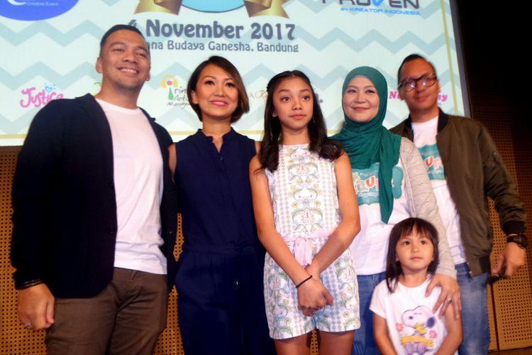 Suasana jumpa pers Konser Dongeng 2 di Galeri Indonesia Kaya, Grand Indonsia, Tanah Abang, Jakarta Pusat, Senin (11/9/2017).