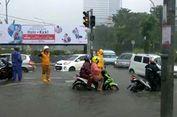 Jakarta Diguyur Hujan Deras, Sejumlah Ruas Jalan Tergenang