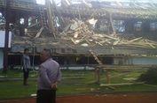Belum Diresmikan, Sebagian Stadion Internasional di Makassar Ambruk