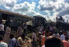 Dua Kereta Tabrakan di Mesir, 20 Orang Tewas dan Puluhan Terluka