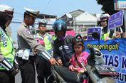 Satlantas Polres Garut Razia Anak yang Membonceng Motor Tanpa Helm