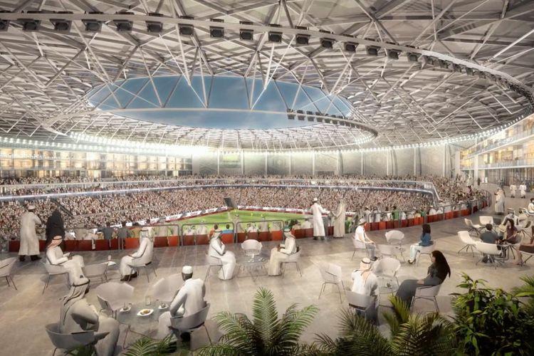 Desain Stadion Al Thauma.