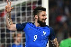 3 Gol Giroud Warnai Kemenangan Telak Perancis
