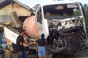 Truknya Ditabrak Kereta Api, Seorang Sopir Bersyukur Selamat dari Kecelakaan