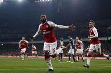 Hasil Liga Inggris, Lacazette Borong Gol Kemenangan Arsenal