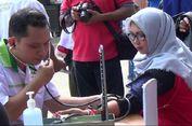 Buruh di Pangkal Pinang Peringati 'May Day' dengan Cek Gula Darah