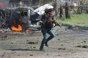 Jurnalis Foto Suriah Berjibaku Selamatkan Bocah Korban Bom