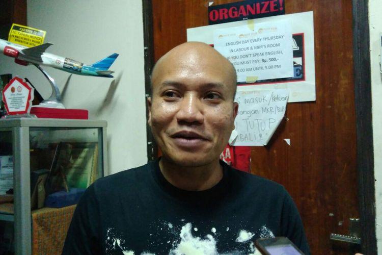 Anggota Komisi D DPRD DKI Jakarta Taufiqurrahman di Kantor LBH Jakarta, Jalan Diponegoro, Minggu (3/9/2017).