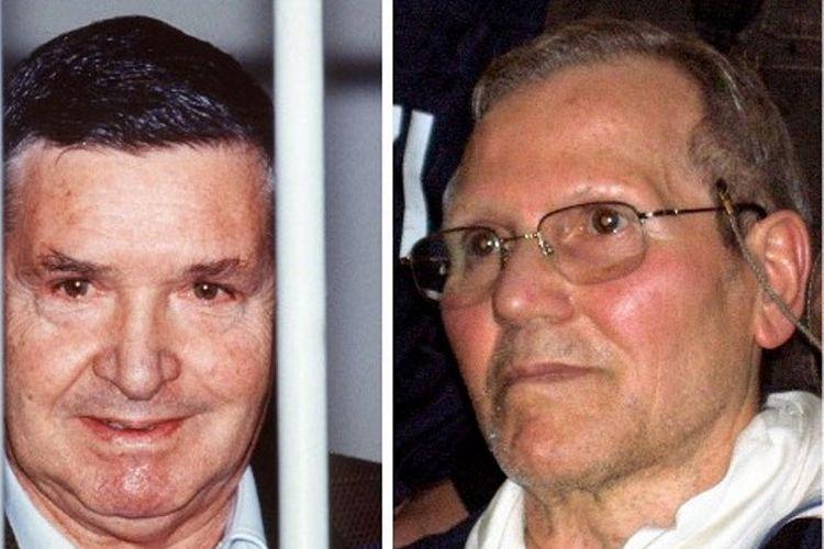 Foto Salvatore Toto Riina (kiri) bersama dengan Bernardo Provenzano. Riina, yang dikenal sebagai Bos Segala Bos mafia Italia meninggal dalam usia 87 tahun.