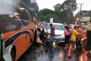 Bus Kecelakaan Maut di Megamendung Puncak Sempat Diperbaiki pada H-1