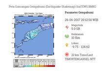 Gempa 5 SR Guncang Kabupaten TTS, Warga Berhamburan Keluar Rumah