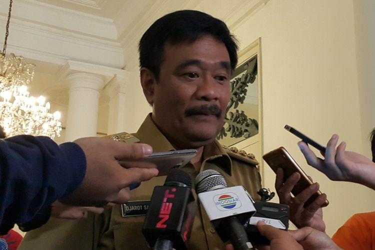 Gubernur DKI Jakarta Djarot Saiful Hidayat di Balai Kota DKI Jakarta, Jalan Medan Merdeka Selatan, Senin (11/9/2017).