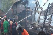 Kompor Gas Meledak, Tujuh Rumah di Samarinda Hangus Terbakar