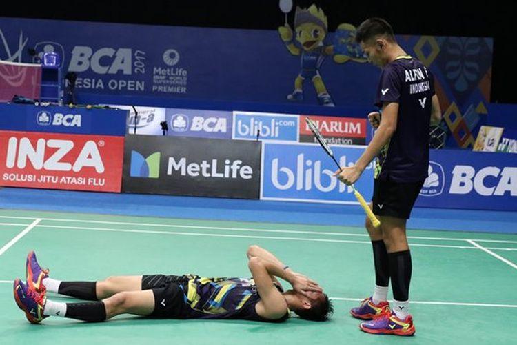 Fajar Alfian/Muhammad Rian Ardianto berhasil meraih tiket semifinal BCA Indonesia Open 2017