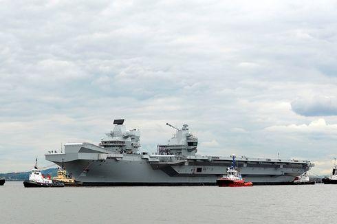 AL Inggris Uji Coba Kapal Induk Baru Berharga Rp 102 Triliun