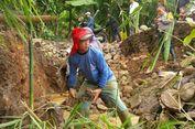 Hujan Deras, Jalan ke Gunung Padang dari Sukabumi Putus di Desa Bencoy