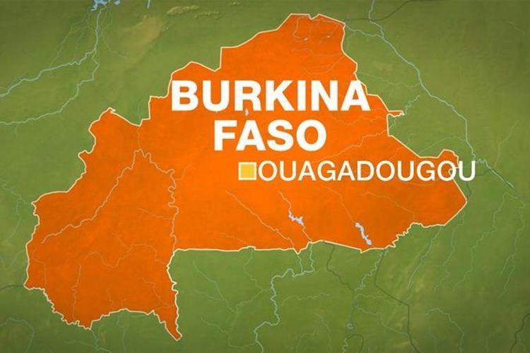 Peta Burkina Faso, negara miskin di Afrika Barat.