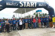Wakil Bupati Kapuas Hulu Lepas Peserta Bersepeda di Jantung Borneo