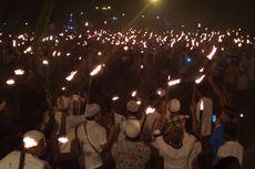 Warga Pedesaan Pawai Obor ke Kota Sambut Ramadhan