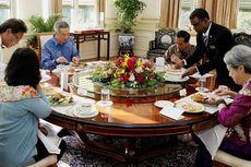 Jokowi dan PM Singapura Jalan Pagi di Singapore Botanical Garden