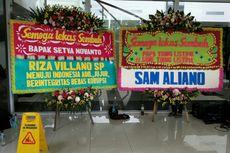 Karangan Bunga untuk Novanto,