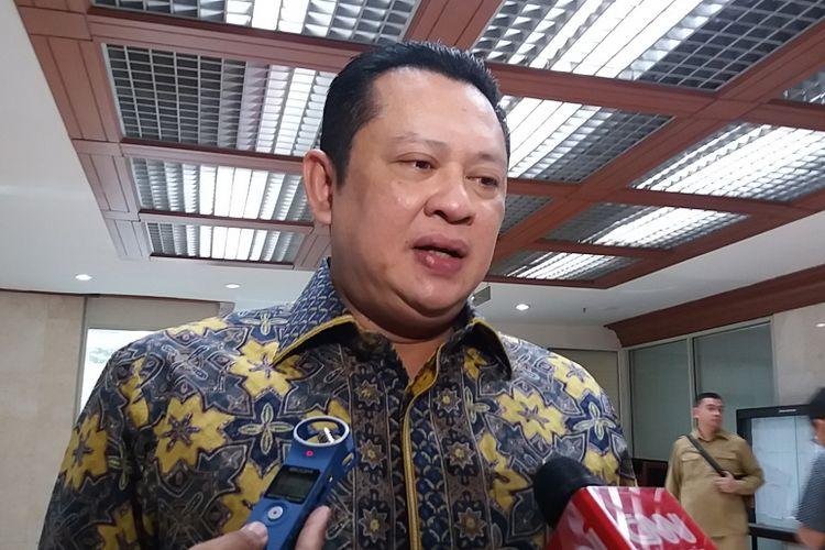 Ketua Komisi III DPR RI dari Fraksi Partai Golkar Bambang Soesatyo di Kompleks Parlemen, Senayan, Jakarta, Rabu (12/7/2017).