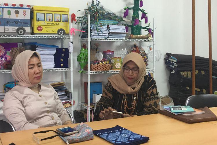 Ketua Himpunan Pendidik dan Tenaga Kependidikan Anak Usia Dini Indonesia (Himpaudi) Netti Herawati (kanan), Rabu (29/11/2019).