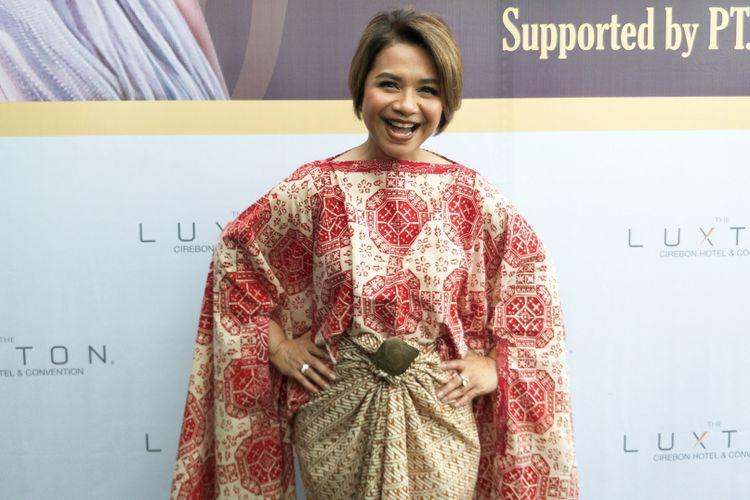 Penyanyi Ruth Sahanaya ditemui dalam jumpa pers konser Wonderfull Indonesia di kawasan Senopati, Kebayoran Baru, Jakarta Selatan, Selana (5/12/2017).