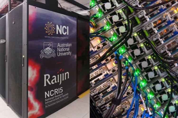 Superkomputer ini menggabungkan 55 kilometer kabel dan lebih dari 15.000 hard drive