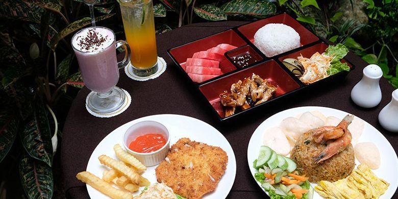 Hidangan yang disajikan restoran Amos Kitchen di Cipete, Jaksel.