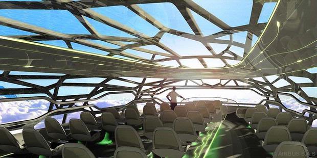 Pesawat Masa Depan Berdinding Transparan