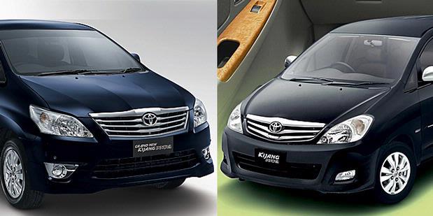 motor grand new kijang innova kiri dan kijang innova sekarang kanan