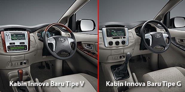 new kijang innova tipe e kiri dan innova lama kanan