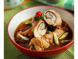 Ayam Gulung Kangkung (Chiken Spinach Recipe)