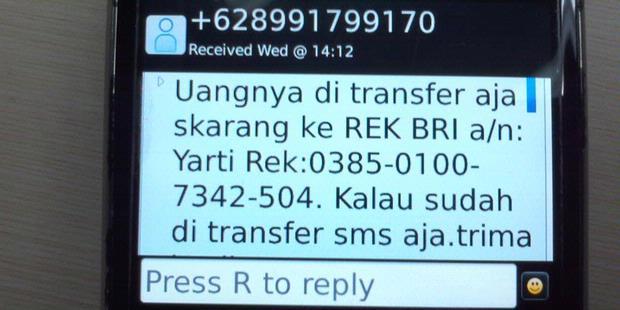 Modus Cara Penipuan Pulsa Melalui SMS