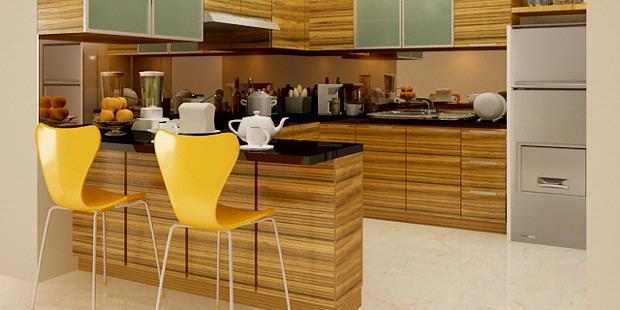 desain dapur u untuk ruang makan favorit