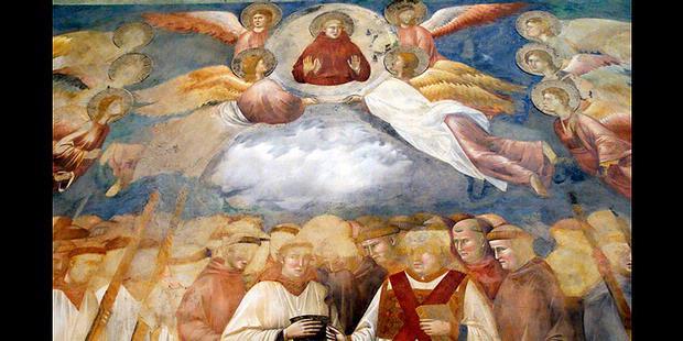 Foto Iblis Dilukisan Giotto Biliska Santo Francius