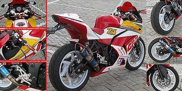 Modifikasi Motor Kawasaki Ninja 250R