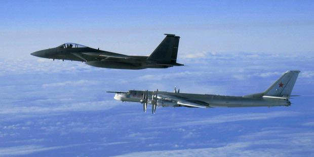 Pesawat Tempur Jepang Cegat Konvoi Pesawat Rusia