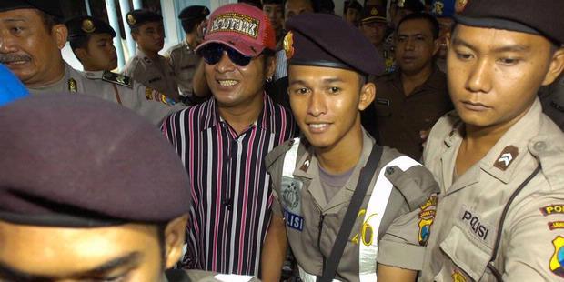 John Kei en décembre 2008, lors de son procès à Surabaya (Kompas/Raditya Helabumi).