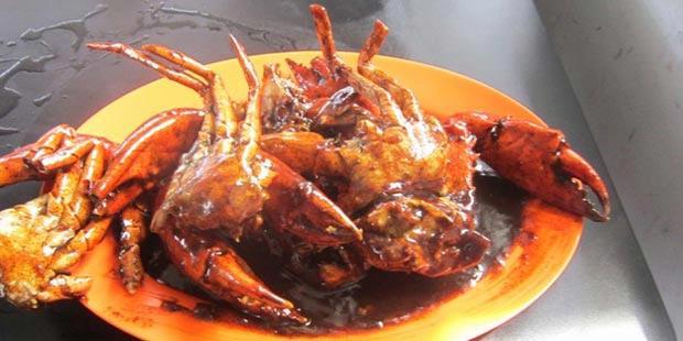 Kepiting saos lada hitam