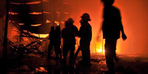 Foto Kebakaran Ruang Genset TransTV dan Trans7